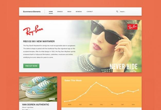 Strona www e-commerce template psd