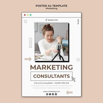 Strona z plakatem marketingu cyfrowego