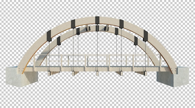 Struktura budynku renderowania 3d na białym tle