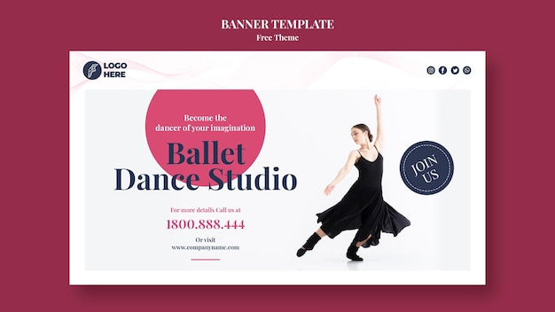 Studio tańca szablon transparent