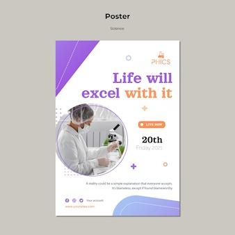 Studiowanie szablonu plakatu koncepcji nauki