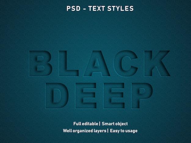 Styl efektu czarnego tekstu