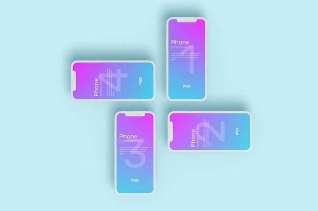 Styl gliny makiety ekranu telefonu