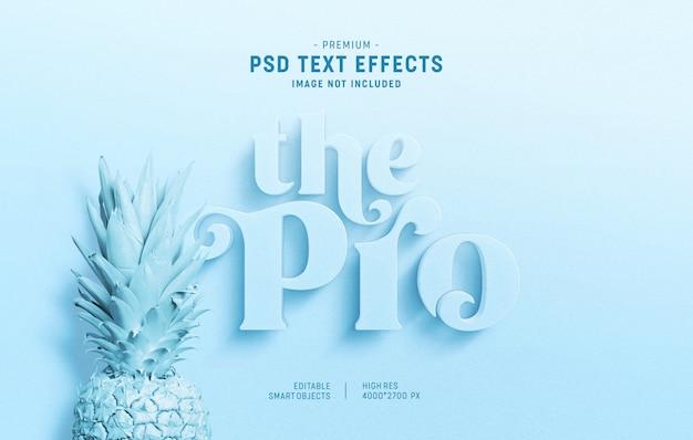 Styl jasnoniebieskiego minimalistycznego efektu tekstowego 3d