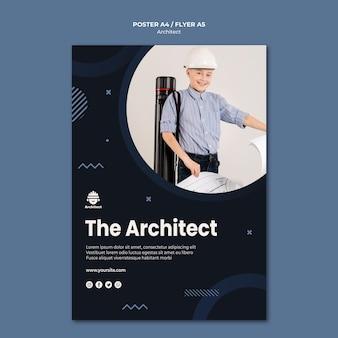 Styl plakatu kariery architekta