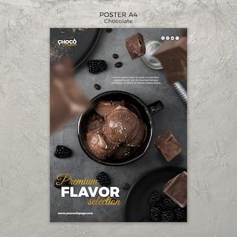 Styl plakatu koncepcja czekolady