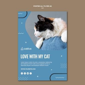 Styl plakatu koncepcja kochanka kota