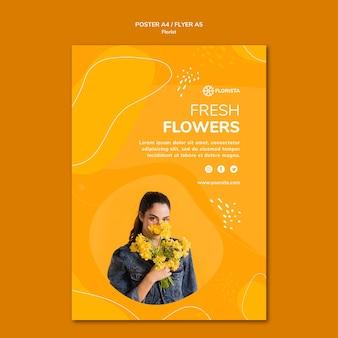 Styl plakatu koncepcja kwiaciarni