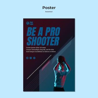 Styl plakatu koszykówki