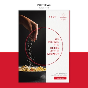 Styl plakatu kuchni włoskiej
