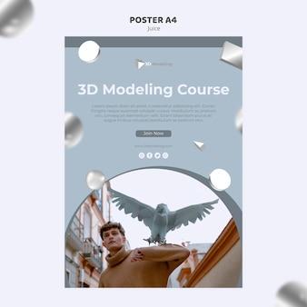 Styl plakatu kursu modelowania 3d