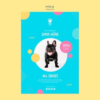 Styl plakatu na sprzedaż karmy dla psów