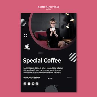 Styl plakatu specjalnej koncepcji kawy