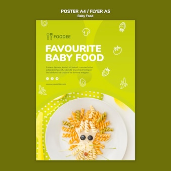 Styl plakatu żywności dla niemowląt
