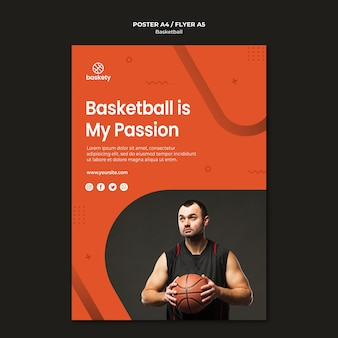 Styl szablon plakat koszykówki