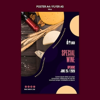 Styl szablon plakat wina