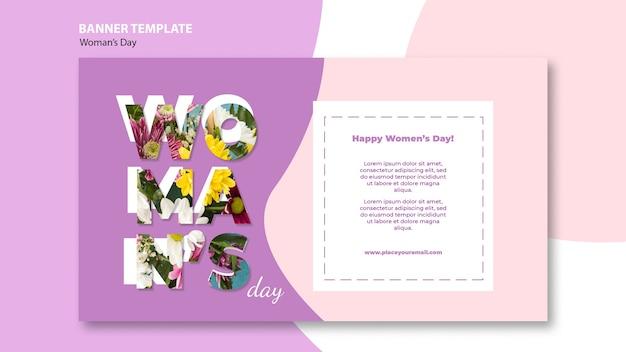 Styl szablon transparent dzień kobiet