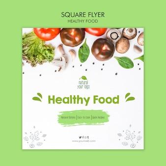 Styl szablon ulotki zdrowej żywności