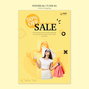 Styl szablonu plakat zakupy online
