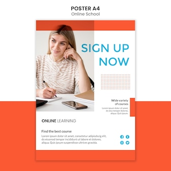 Styl szablonu plakatu szkolnego online