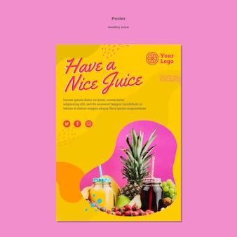Styl szablonu plakatu zdrowego soku