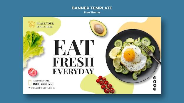 Styl szablonu transparent zdrowej żywności