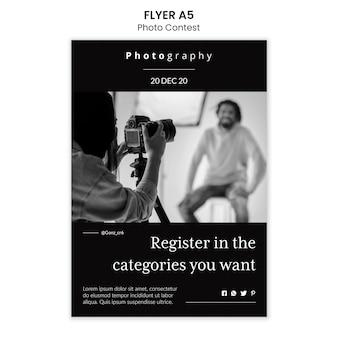Styl szablonu ulotki konkursu fotograficznego