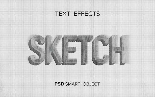 Styl szkicu pisania efektu tekstu