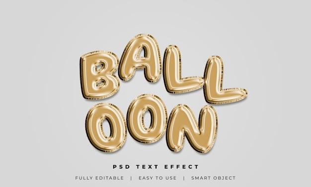 Styl tekstu balonu 3d