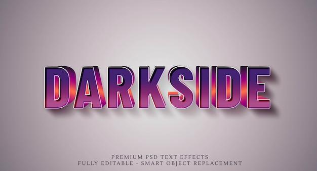 Styl tekstu darkside z lat 80