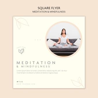 Styl ulotki medytacji i uważności