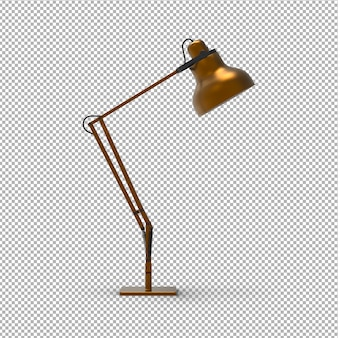 Stylowa lampa stołowa 3d