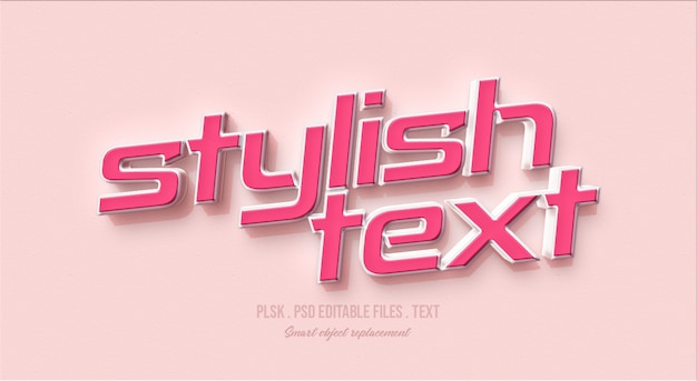 Stylowa makieta efektu stylu tekstu 3d