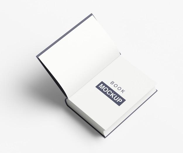 Stylowa otwarta makieta książki lub czasopisma