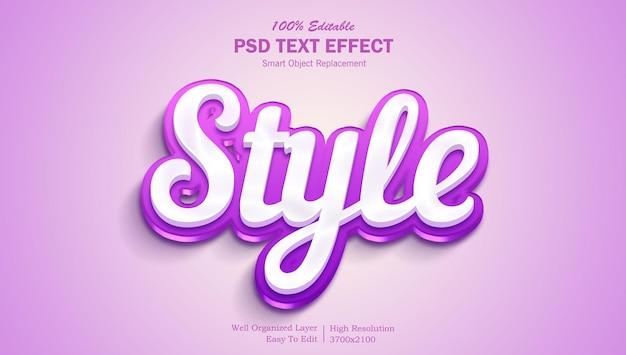 Stylowy i kolorowy efekt tekstu 3d z możliwością edycji psd