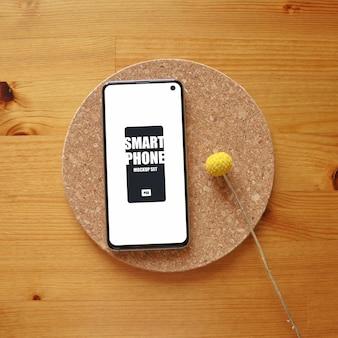 Stylowy smartfon psd mockup