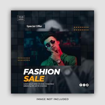 Stylowy szablon transparent sprzedaż modnej mody