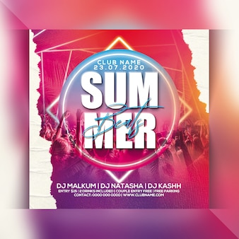 Summer beats party flyer