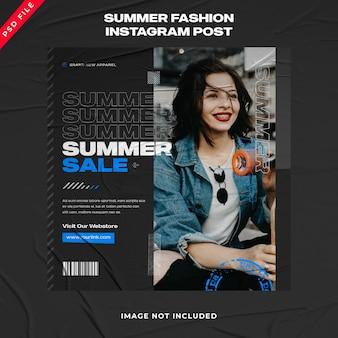 Summer urban fashion streetwear banner post na instagramie