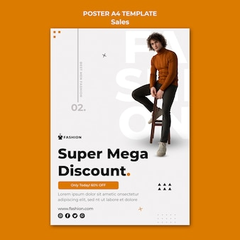 Super szablon plakatu rabatowego mody