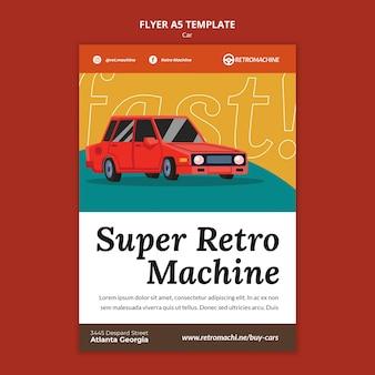 Super szablon ulotki maszyny retro