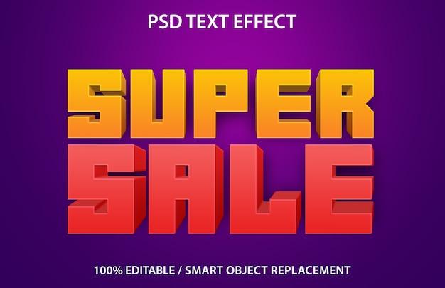 Super wyprzedaż z efektem edytowalnego tekstu
