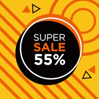 Supersale Szablon Banera Społecznościowego Premium Psd