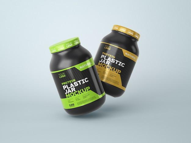 Suplement diety makieta plastikowego słoika