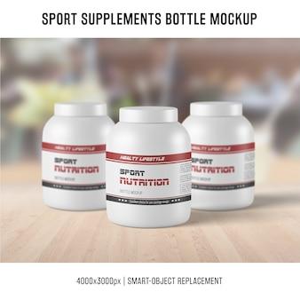 Suplementy sportowe makieta do butelek