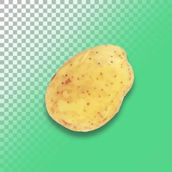 Surowe ziemniaki na przezroczystym tle.