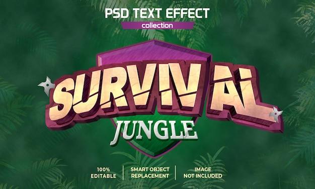 Survival jungle game arcade efekt tekstu