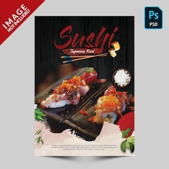 Sushi japanese food fyer premim psd