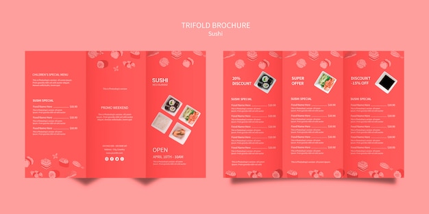Sushi szablon projektu broszury