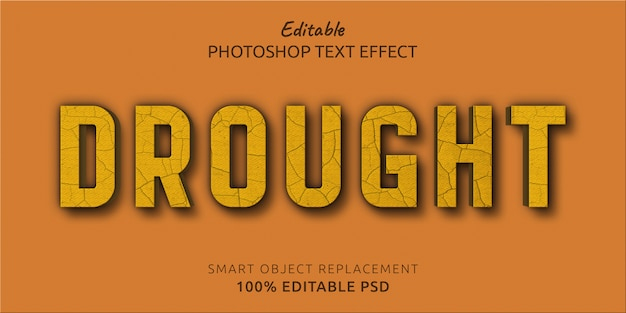 Susza edytowalny efekt stylu tekstu w programie photoshop